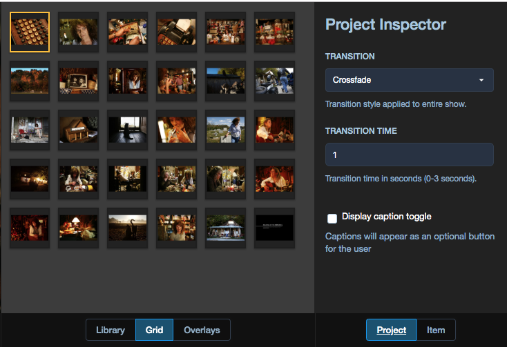 Project inspector